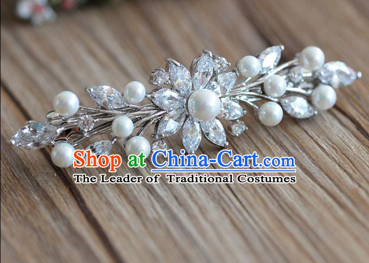 Traditional Jewelry Accessories, Princess Wedding Hair Accessories, Bride Wedding Hair Accessories, Baroco Style Crystal Pearl Headwear for Women