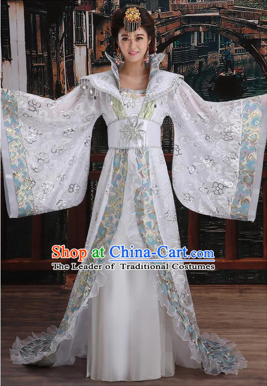 Ancient Chinese Palace Empress Costumes Complete Set, Tang Dynasty Ancient Palace Clothing, Cosplay Hanfu Fairy Princess Dress Suits For Women