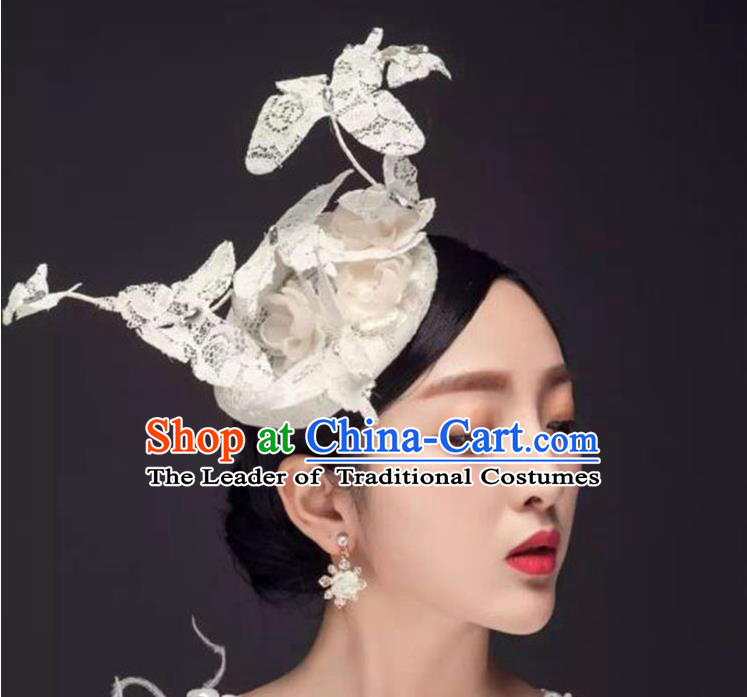 Traditional Jewelry Accessories, Princess Wedding Hair Accessories, Bride Wedding Hair Accessories, Baroco Style Lace Headwear for Women