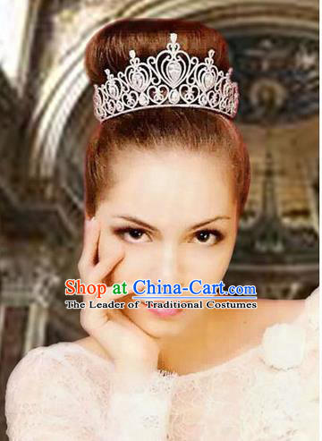 Traditional Jewelry Accessories, Palace Princess Bride Royal Crown, Queen Engagement Royal Crown, Wedding Hair Accessories, Baroco Style Crystal Zircon Headwear for Women