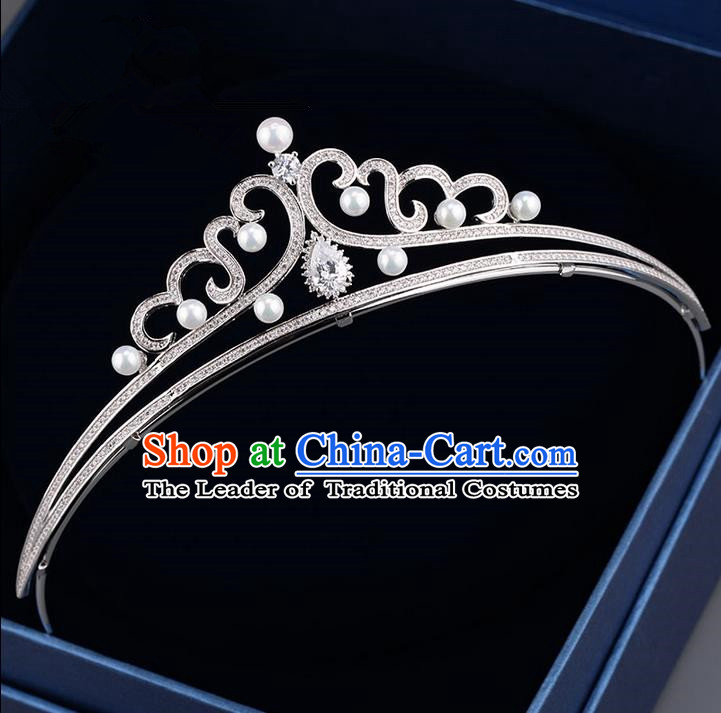 Traditional Jewelry Accessories, Palace Princess Bride Royal Crown, Engagement Royal Crown, Wedding Hair Accessories, Baroco Style Zircon Headwear for Women