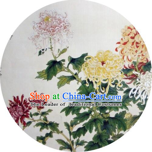 Oiled Paper Umbrella Chinese Classic Handmade Parasol Sunshade Chrysanthemum