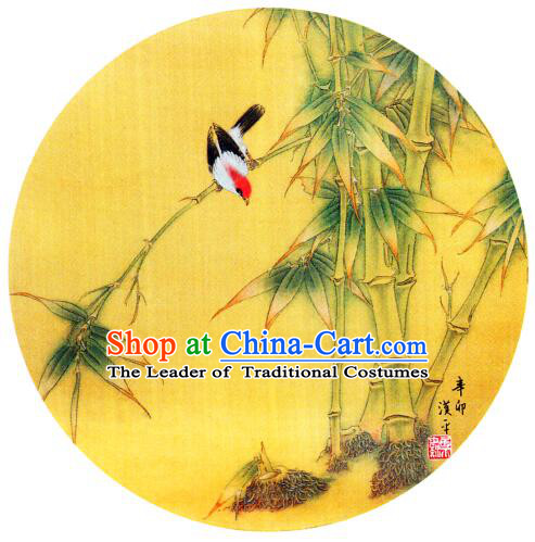 Oil Painting Umbrella Chinese Traditional Umbrella Parasol Sunshade Hand Make Oiled Paper Dancing Bamboo