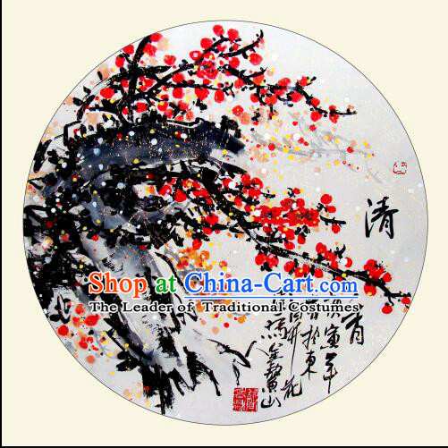 Classic Handmade Umbrella Traditional Chinese Painting Red Plum