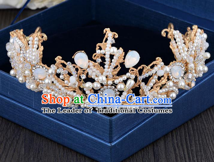Traditional Jewelry Accessories, Palace Princess Bride Royal Crown, Imperial Royal Crown, Wedding Hair Accessories, Baroco Style Crystal for Headwear Women