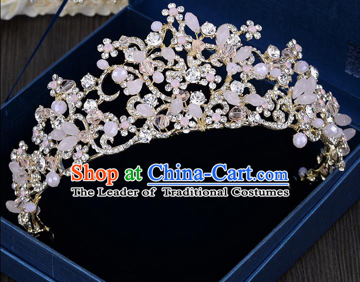 Traditional Jewelry Accessories, Palace Princess Bride Royal Crown, Imperial Royal Crown, Wedding Hair Accessories, Baroco Style Pearl Headwear for Women