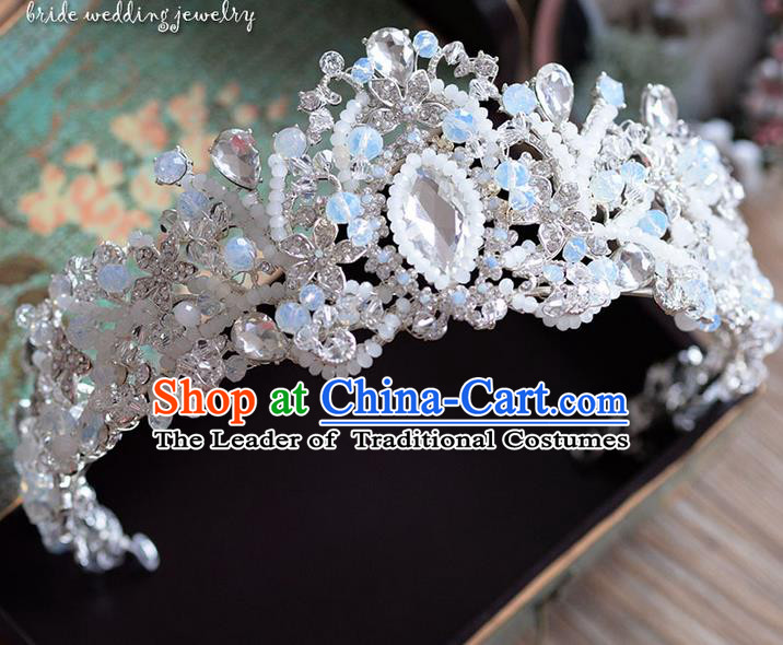 Traditional Jewelry Accessories, Palace Princess Bride Royal Crown, Imperial Royal Crown, Wedding Hair Accessories, Baroco Style Crystal Headwear for Women
