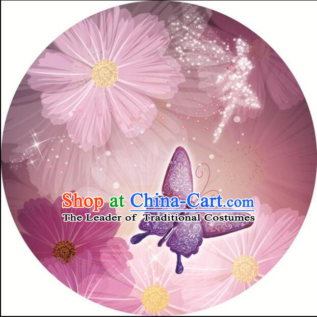 Chinese Classic Handmade Oiled Paper Umbrella Parasol Sunshade Orchid