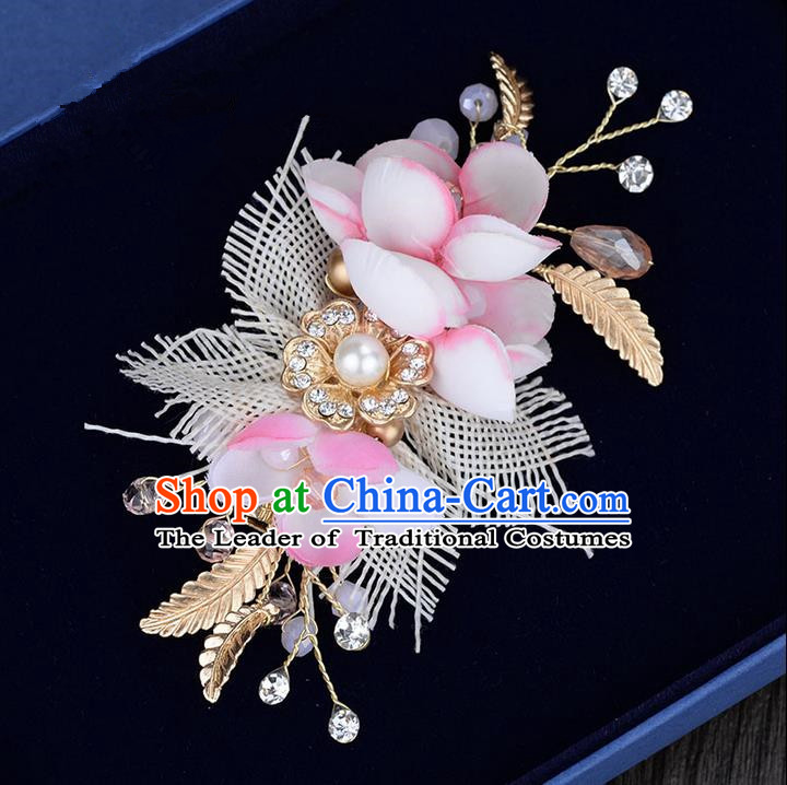 Traditional Jewelry Accessories, Princess Hair Accessories, Bride Wedding Hair Accessories, Baroco Style Crystal Flowers Headwear for Women