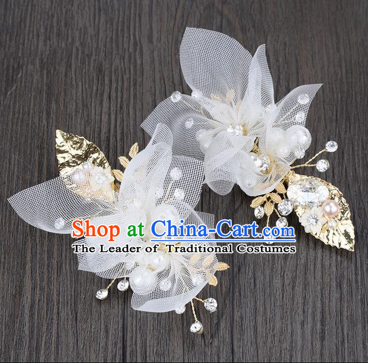 Traditional Jewelry Accessories, Princess Hair Accessories, Bride Wedding Hair Accessories, Headwear, Baroco Style Hair Claw for Women