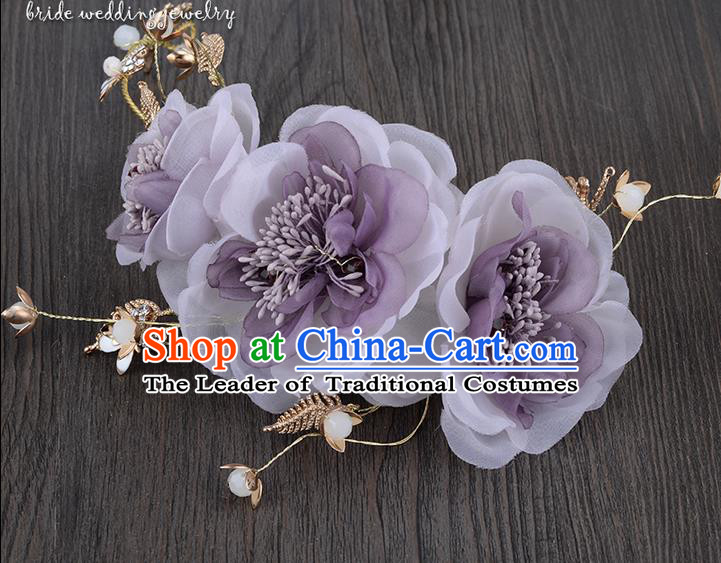 Traditional Jewelry Accessories, Princess Hair Accessories, Bride Wedding Hair Accessories, Headwear, Baroco Style Flowers Hair Claw for Women