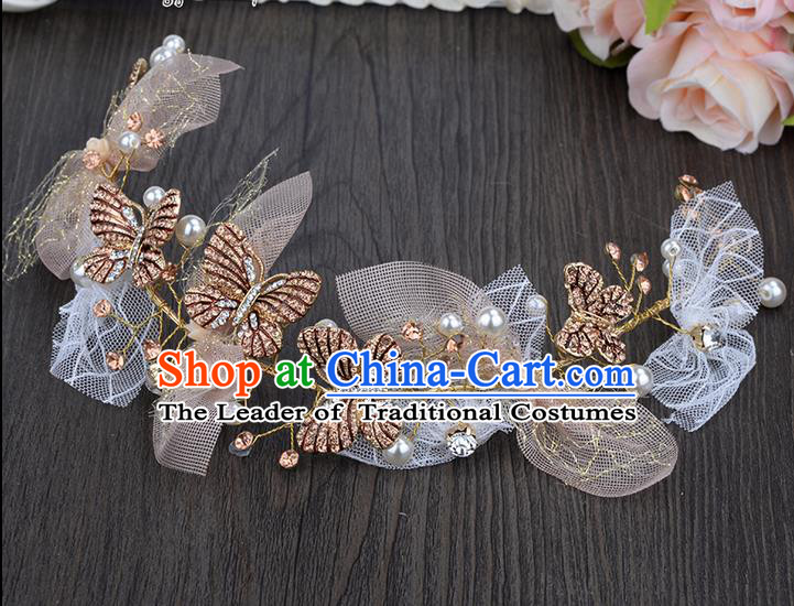 Traditional Jewelry Accessories, Princess Hair Accessories, Bride Wedding Hair Accessories, Headwear, Baroco Style Butterfly Hair Claw for Women