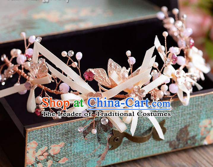 Traditional Jewelry Accessories, Princess Hair Accessories, Bride Wedding Hair Accessories, Headwear, Baroco Style Crystal Hair Claw for Women