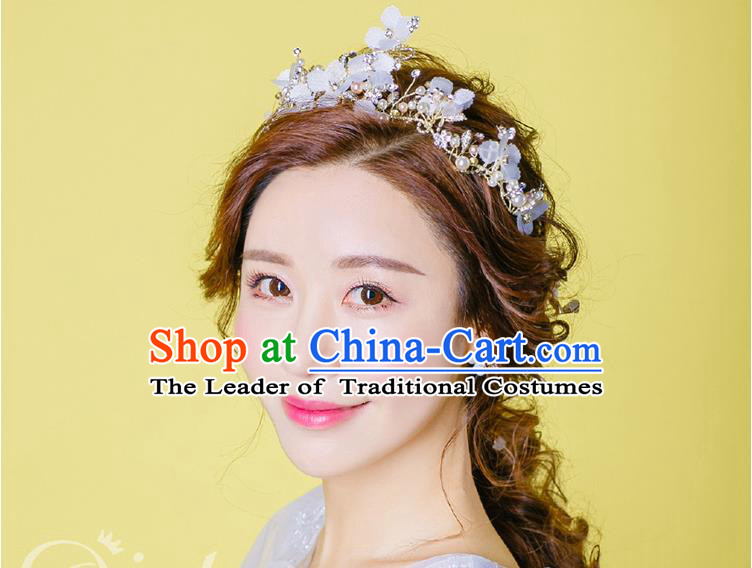 Traditional Jewelry Accessories, Princess Hair Accessories, Bride Wedding Hair Accessories, Headwear, Baroco Style Crystal Pearl Hair Claw for Women
