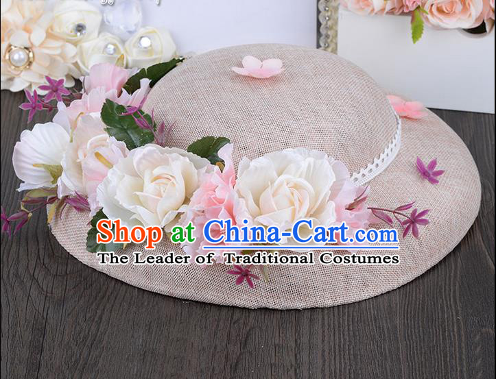 Traditional Jewelry Accessories, Princess Hair Accessories, Bride Wedding Hair Accessories, Hat, Baroco Style Hats for Women
