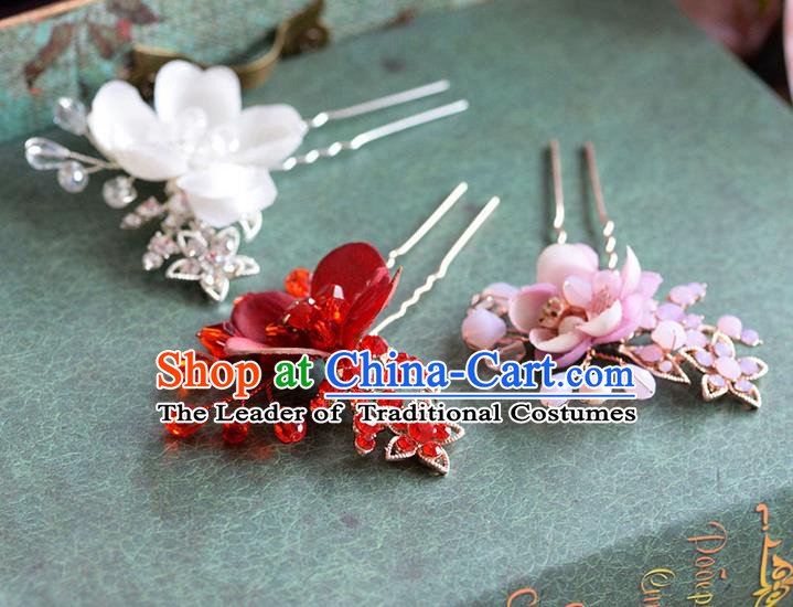 Chinese Ancient Style Hair Jewelry Accessories, Hairpins, Hanfu Xiuhe Suits Wedding Bride Headwear, Headdress, Handmade Hair Claw for Women