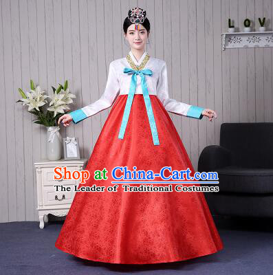 Korean Traditional Costumes Women Ancient Clothes Wedding Dress Full Dress Formal Attire Ceremonial Dress Court Stage Dancing