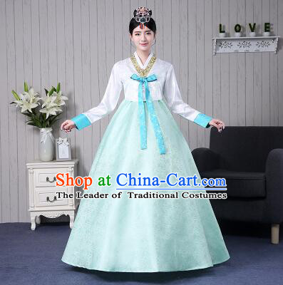 Korean Women Costumes Ancient Clothes Traditional Wedding Full Dress Formal Attire Ceremonial Clothes Court Stage Dancing