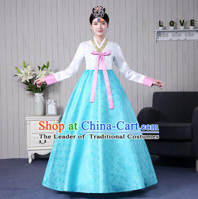 Korean Traditional Costumes Korean Clothes Wedding Full Dress Formal Attire Ceremonial Clothes Court Stage Dancing