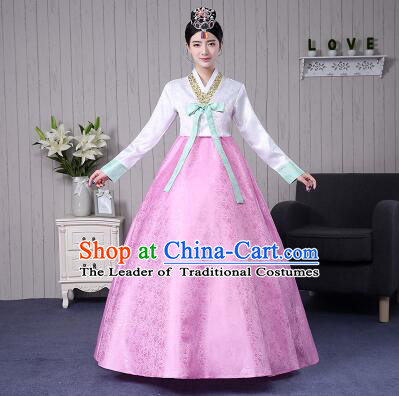 Korean Traditional Wedding Dress Bride Costume Korean Ancient Clothes Full Dress Formal Attire Ceremonial Clothes Court Stage Dancing