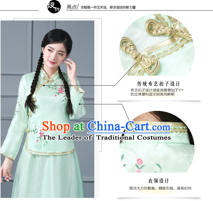 Chinese Traditional Dress Min Guo Time Girl Clothing Nobel Lady Stage costumes Ladies