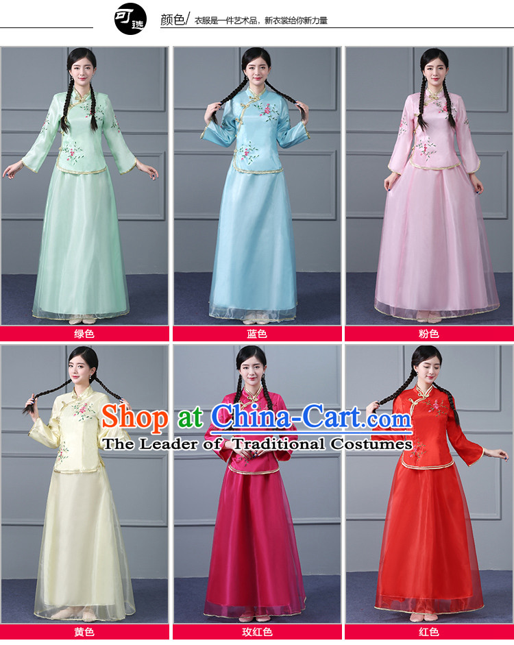 Chinese Traditional Dress Min Guo Time Girl Clothes Nobel Lady Stage costumes Ladies