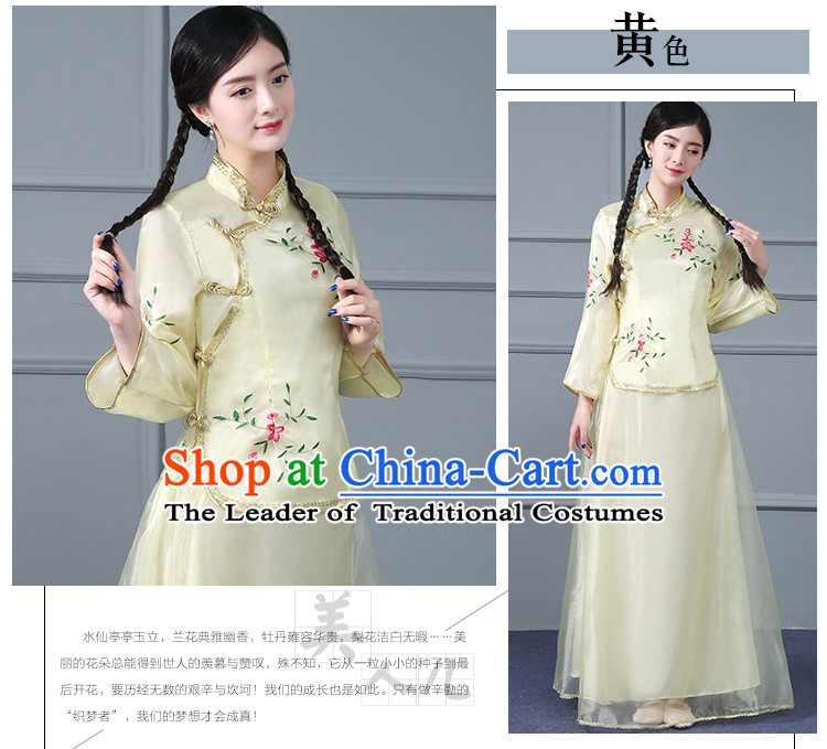 Chinese Traditional Clothes Min Guo Time Girl Clothing Nobel Lady Stage costumes Ladies
