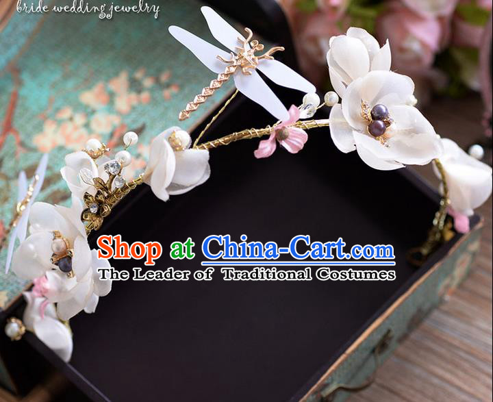 Traditional Jewelry Accessories, Princess Wedding Hair Accessories, Bride Wedding Hair Accessories, Headwear, Baroco Style Handmade Dragonfly Flowers Hair Claw for Women