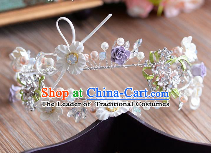 Traditional Jewelry Accessories, Princess Wedding Hair Accessories, Bride Wedding Hair Accessories, Headwear, Baroco Style Handmade Crystal Hair Claw for Women