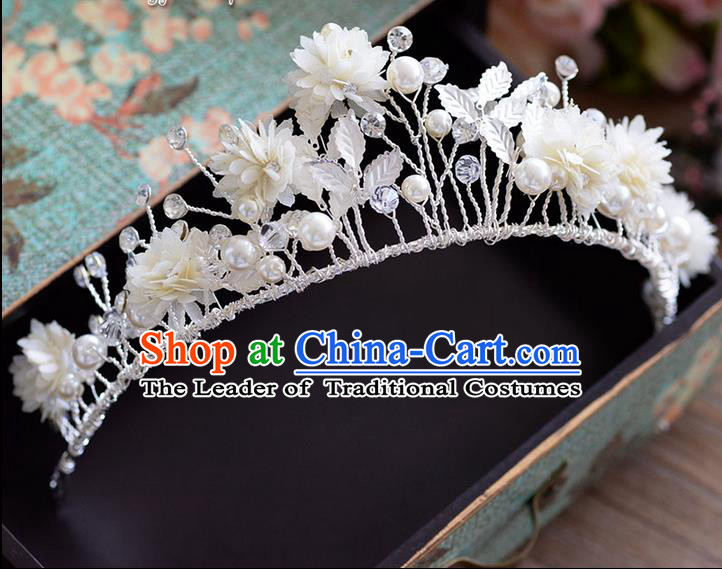 Traditional Jewelry Accessories, Palace Princess Bride Royal Crown, Engagement Royal Crown, Wedding Hair Accessories, Baroco Style Pearl Headwear for Women