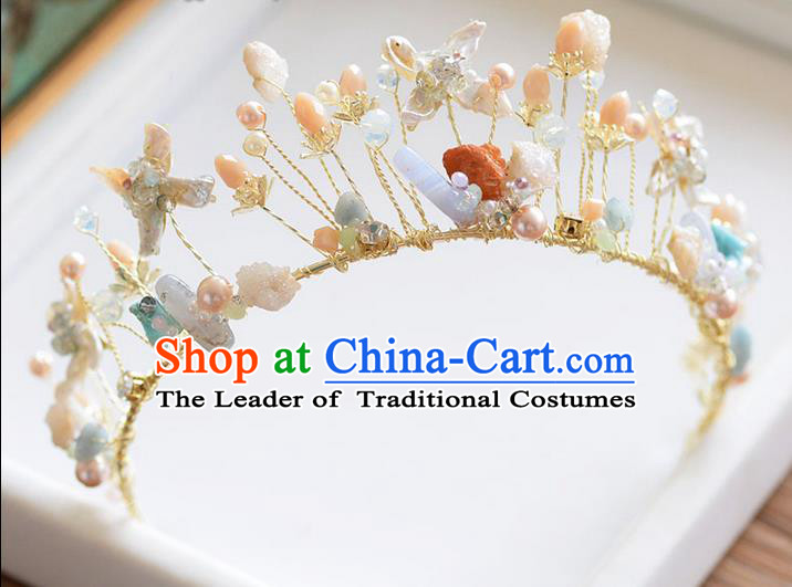 Traditional Jewelry Accessories, Palace Queen Bride Royal Crown, Engagement Royal Crown, Wedding Hair Accessories, Baroco Style Crystal Pearl Headwear for Women