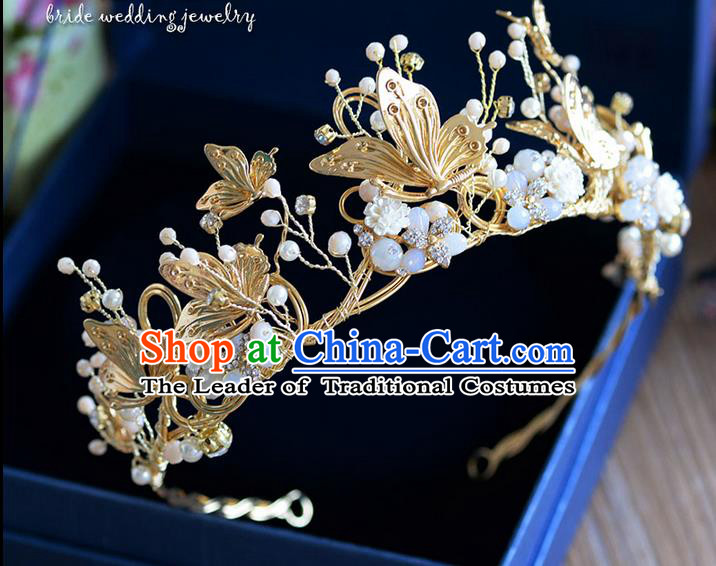 Traditional Jewelry Accessories, Palace Queen Bride Royal Crown, Engagement Royal Crown, Wedding Hair Accessories, Baroco Style Crystal Headwear for Women