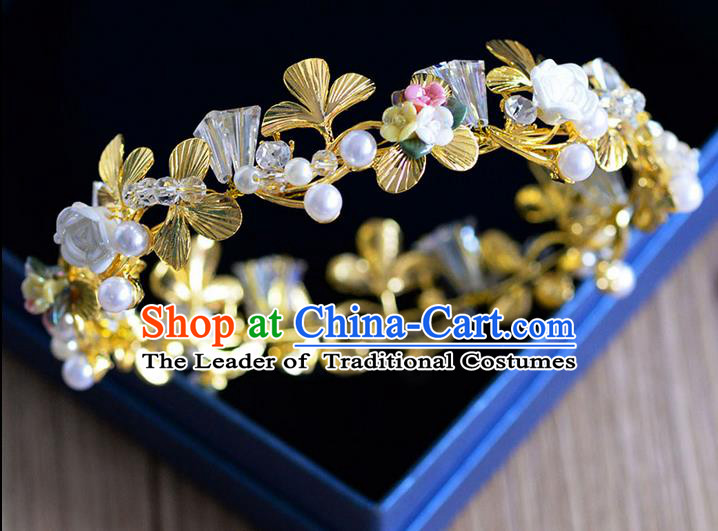 Traditional Jewelry Accessories, Palace Princess Bride Royal Crown, Engagement Royal Crown, Wedding Hair Accessories, Baroco Style Crystal Pearl Headwear for Women