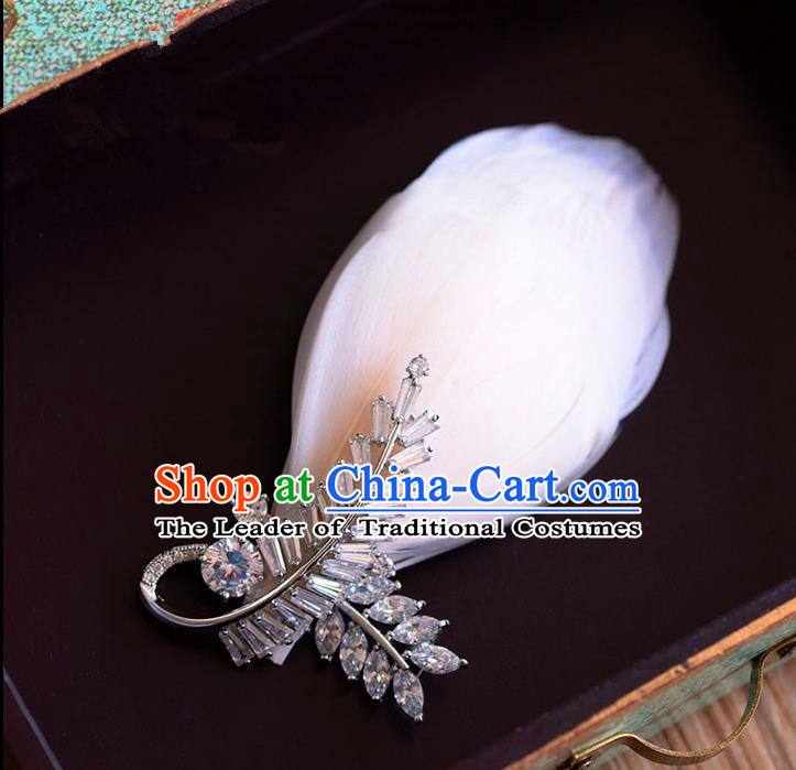 Traditional Jewelry Accessories, Princess Wedding Accessories, Bride Wedding Brooch for Women