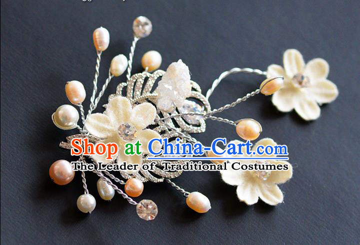 Traditional Jewelry Accessories, Princess Wedding Accessories, Bride Wedding Pearl Zircon Brooch for Women