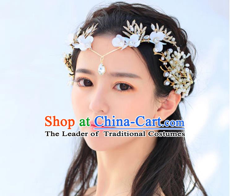 Traditional Jewelry Accessories, Princess Wedding Hair Accessories, Bride Wedding Hair Accessories, Headband, Baroco Style Handmade Crystal Pearl Hair Claw for Women