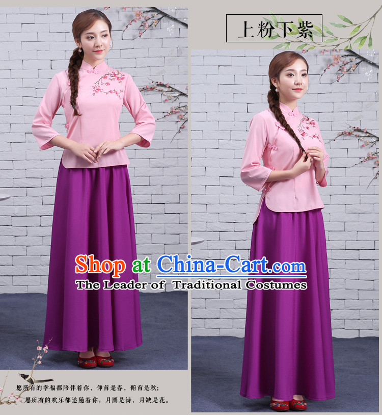 Chinese Traditional Dress Show Min Guo Time Girl Clothing Nobel Lady Stage costumes Ladies
