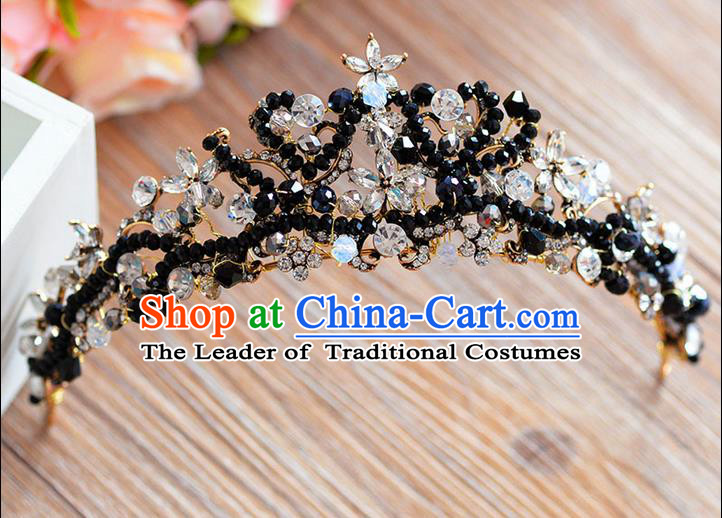 Traditional Jewelry Accessories, Palace Princess Bride Royal Crown, Engagement Retro Royal Crown, Wedding Hair Accessories, Baroco Style Crystal Headwear for Women