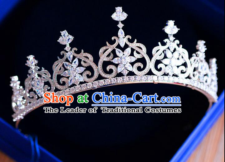 Traditional Jewelry Accessories, Palace Princess Bride Royal Crown, Engagement Retro Royal Crown, Wedding Hair Accessories, Baroco Style Zircon Headwear for Women