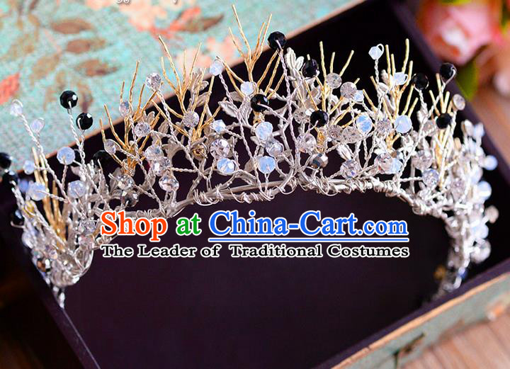 Traditional Jewelry Accessories, Palace Princess Bride Royal Crown, Engagement Royal Crown, Wedding Hair Accessories, Baroco Style Crystal Headwear for Women