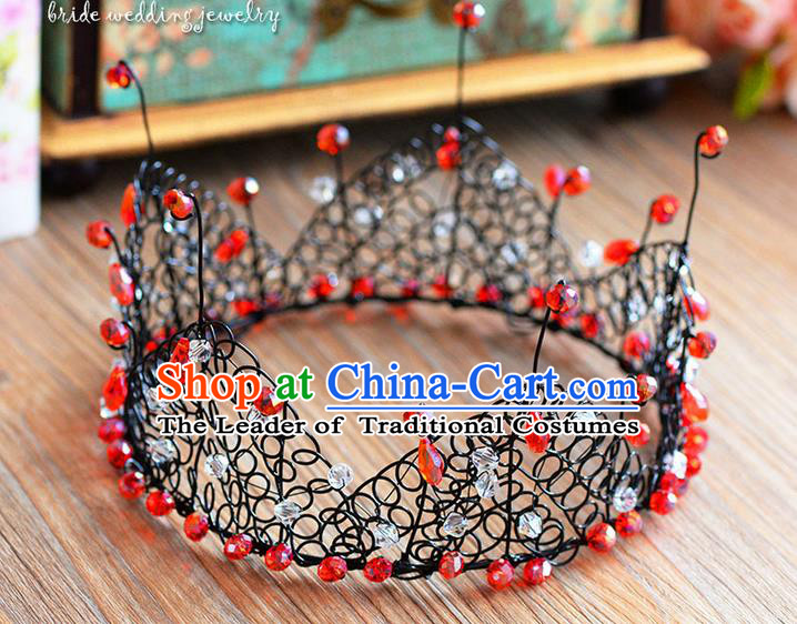 Traditional Jewelry Accessories, Palace Princess Bride Royal Crown, Engagement Retro Royal Crown, Wedding Hair Accessories, Baroco Style Headwear for Women