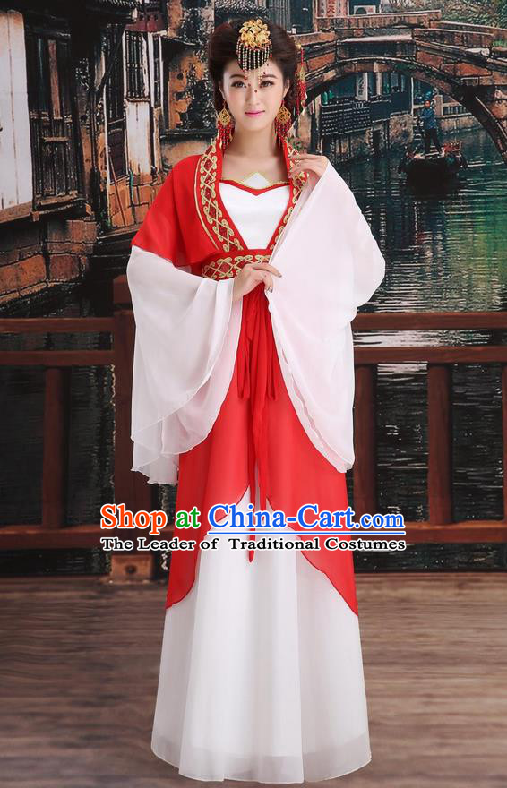 Ancient Chinese Palace Empress Costumes Complete Set, Tang Dynasty Ancient Palace Dance Clothing, Cosplay Hanfu Fairy Imperial Princess Dress Suits For Women