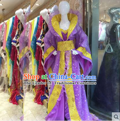 Ancient Chinese Palace Empress Costumes Complete Set, Tang Dynasty Ancient Palace Princess Dance Clothing, Cosplay Fairy Imperial Consort Dress Suits For Women