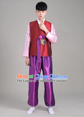 Korean Traditional Formal Dress Set Men Clothes Traditional Korean Traditional Costumes Full Dress Formal Attire Ceremonial Dress Court Slight Blue
