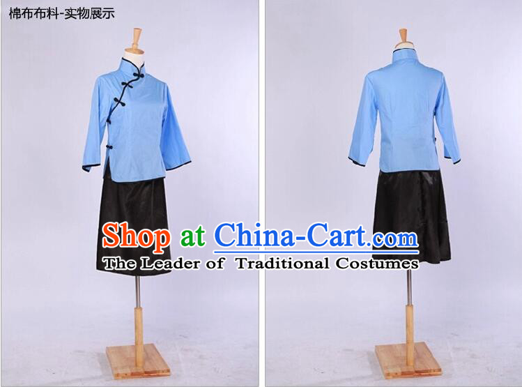 Chinese Traditional Clothes Min Guo Time Female Clothing Nobel Lady Stage costumes Girls