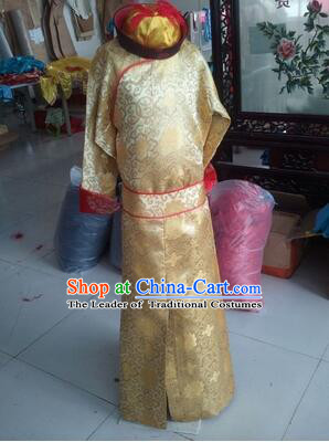 Children Qing Dynasty Emperor Dress Prince Costumes Boy Stage Clothes Kid Show Chinese Traditional Clothes Ancient Dress