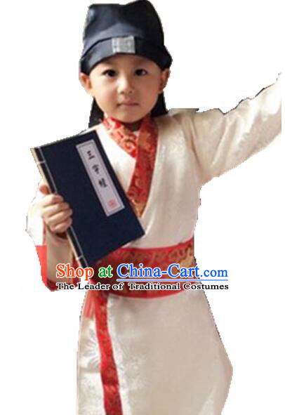 Chinese Traditional Dress for Boy Kid Children Clothes Ancient Chinese Costume Stage Show
