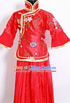 Traditional Chinese Acient Qang Dynasty Costume, Women Republic of China Costume, Late Qing Dynasty Dress for Women