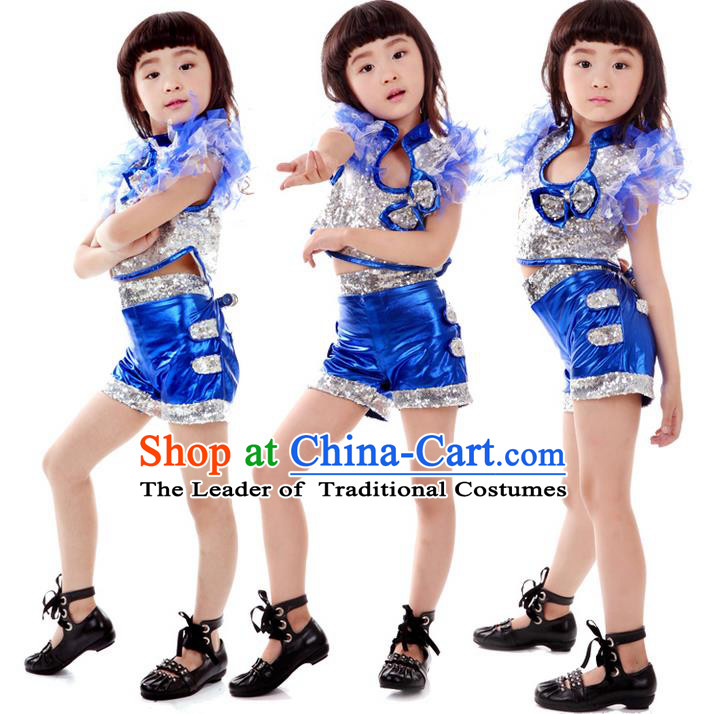 Traditional Chinese Modern Dancing Costume, Children Jazz Dance Costume for Kids