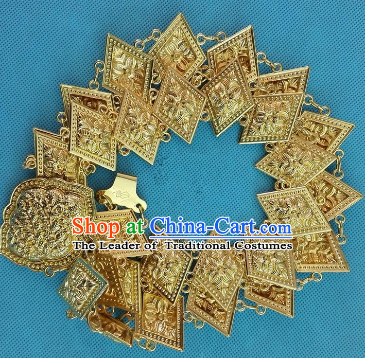 Traditional Asian Thai Jewelry Accessories, Traditional Thai Belts, Scales Gold Dancing Belts for Women
